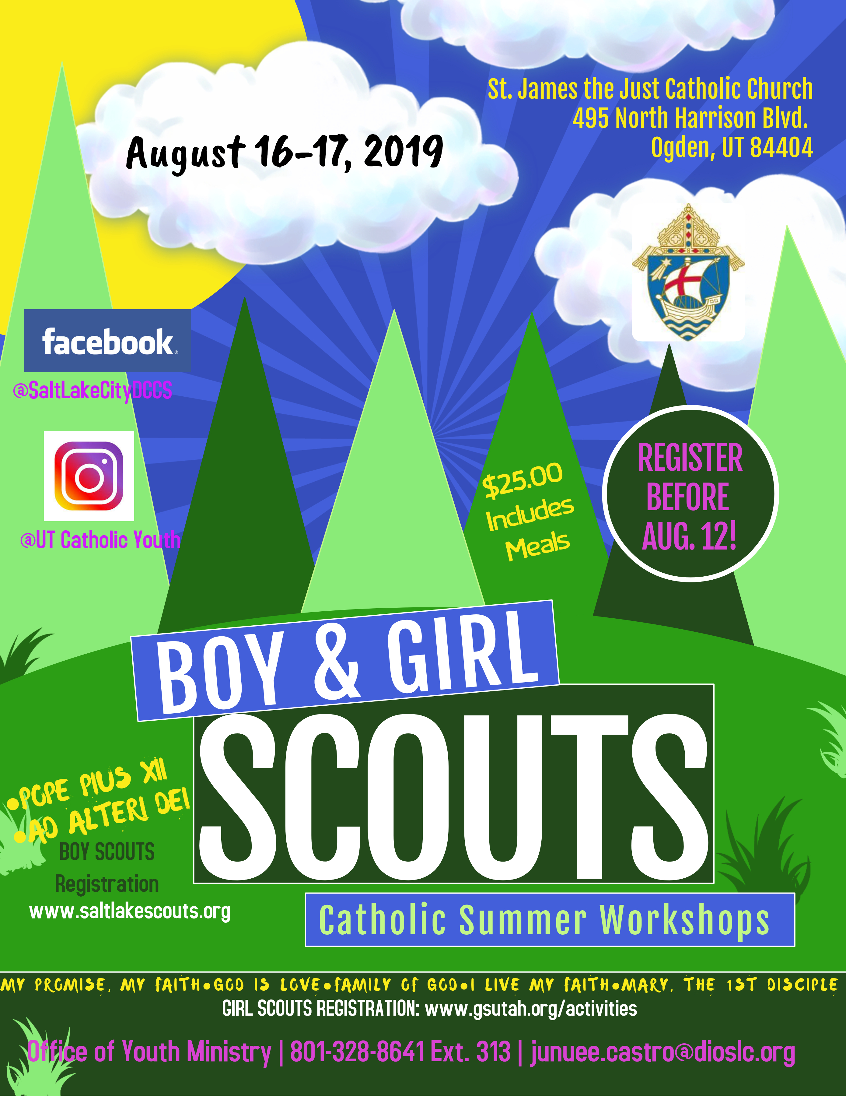 Catholic Summer Workshops for Scouts
